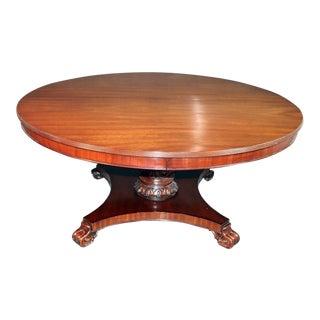 Maitland Smith Regency Style Mahogany Dining Table For Sale