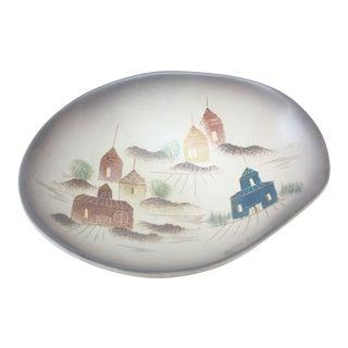 Sascha Brastoff Ceramic 'Rooftops' Footed-Dish For Sale