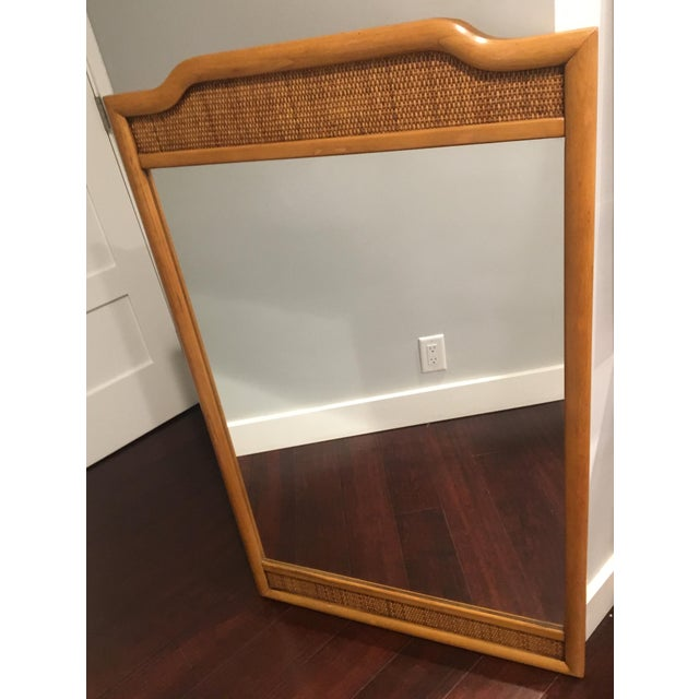 French Indochine Style Mid Century Pier / Console Mirror (4 Ft) For Sale - Image 10 of 12