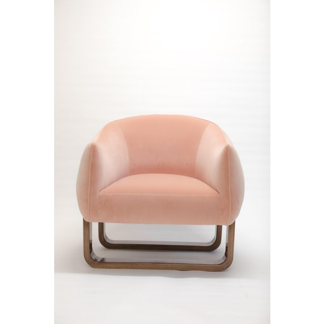 Milo Armchair in Pink For Sale In New York - Image 6 of 6
