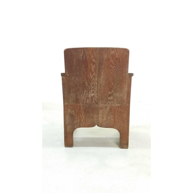 Brown Early 20th Century Vintage Early European Arts and Crafts Chair For Sale - Image 8 of 12
