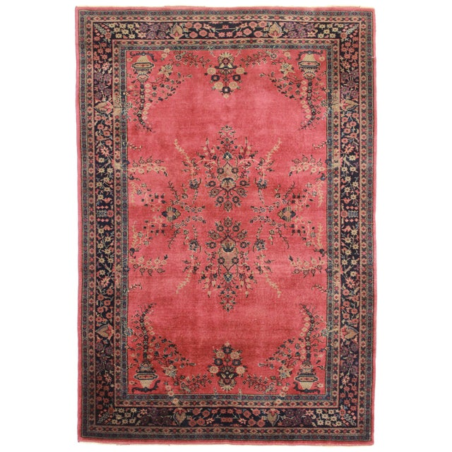 RugsinDallas Antique Hand Knotted Wool Turkish Sparta Rug - 6′ × 8′10″ - Image 1 of 2