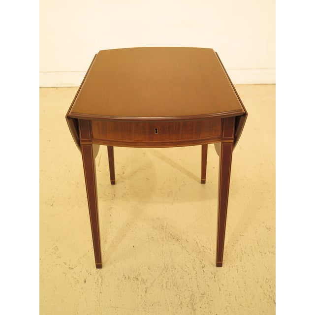 1940s Federal Kittinger Colonial Williamsburg Mahogany Pembroke Table For Sale - Image 13 of 13