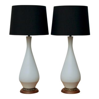 Midcentury Modern Sculptural Lamps, a Pair For Sale