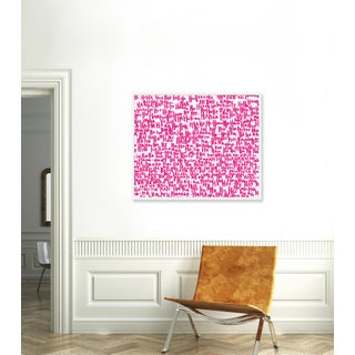 """""""haha Pink One"""" Print by Kate Roebuck, 41"""" X 31"""" Preview"""