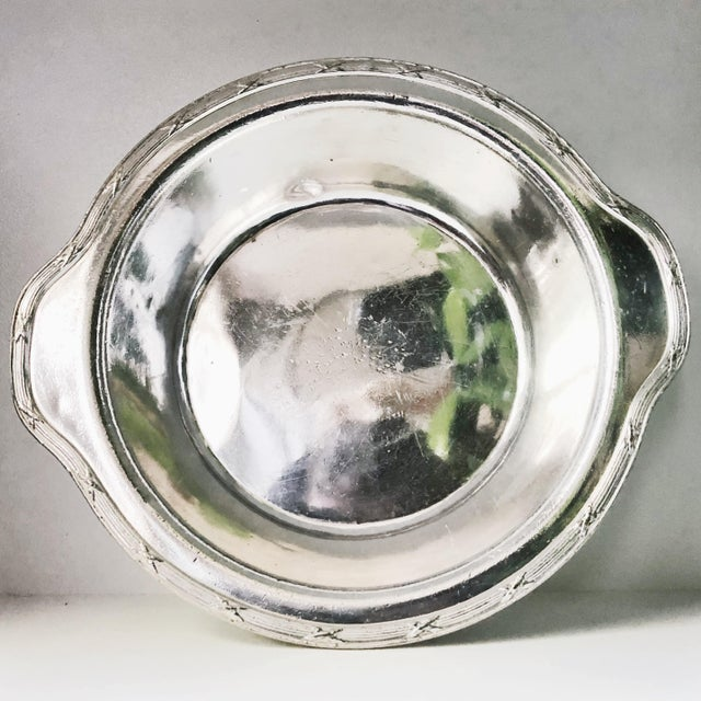 Silver Large 1927 Silver Plated Serving Bowl From Savoy Plaza Hotel NYC For Sale - Image 8 of 10