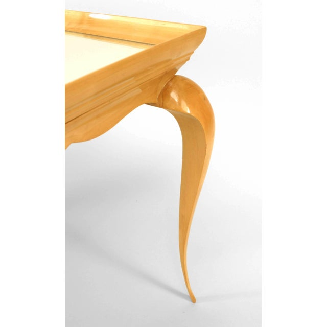 French French Sycamore Coffee Table, 1930 For Sale - Image 3 of 4