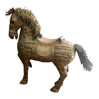 Sergio Bustamante Full-Size Horse Sculpture With Glass Eyes