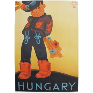 1930s Original Hungarian Travel Poster, Hungary For Sale
