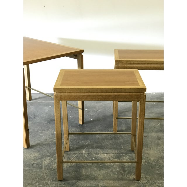 Mid-Century Modern 1950s Edward Wormley for Dunbar Nesting Tables-Set Of 3 For Sale - Image 3 of 9