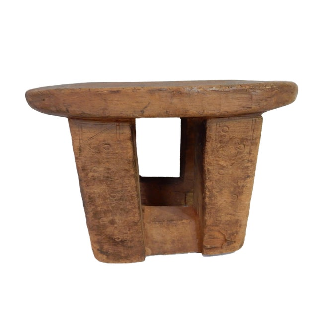 African Bamileke Low Milk Stool Cameroon For Sale - Image 3 of 7