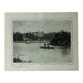 """1906 """"The Star and Garter - Richmond"""" Famous View of London Print For Sale"""