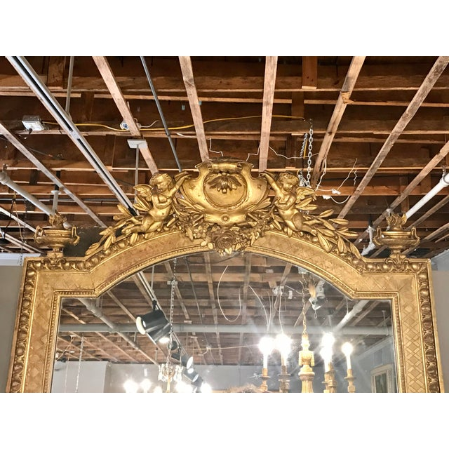 Late 19th Century Napoleon III Parcel Gilt Over Mantel Mirror For Sale - Image 5 of 6