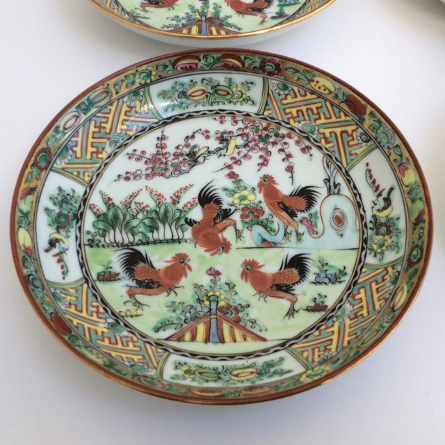 Asian Chinese Rooster Dishes - Set of 4 For Sale - Image 3 of 5