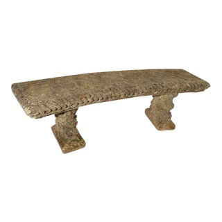Circa 1900 Reconstituted Stone Dolphins Bench From France For Sale