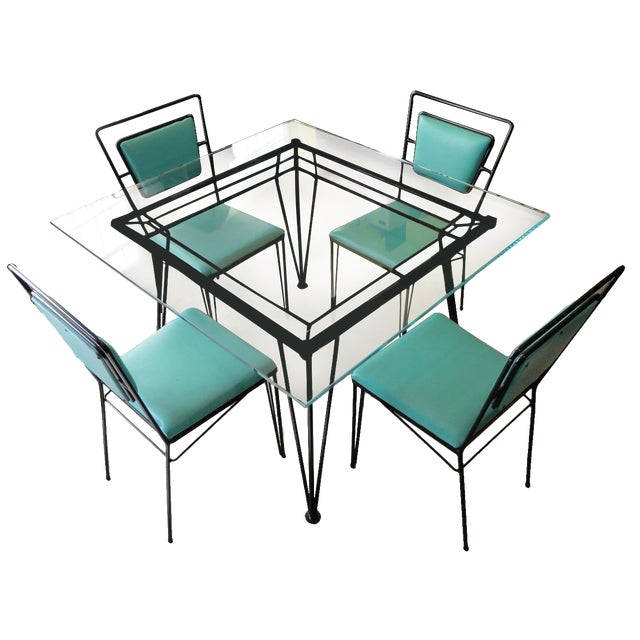Atomic Age Mid-Century Iron Dining Set - Image 1 of 11