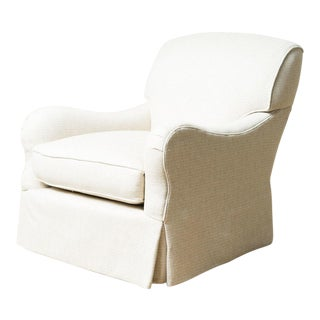 Traditional Phoebe Off White Upholstered Club Chair
