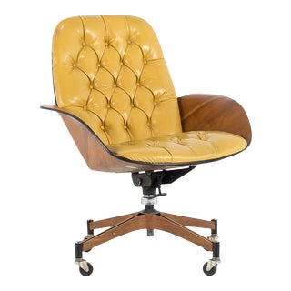 1960s Mid Century Modern Plycraft Mister Desk Chair For Sale
