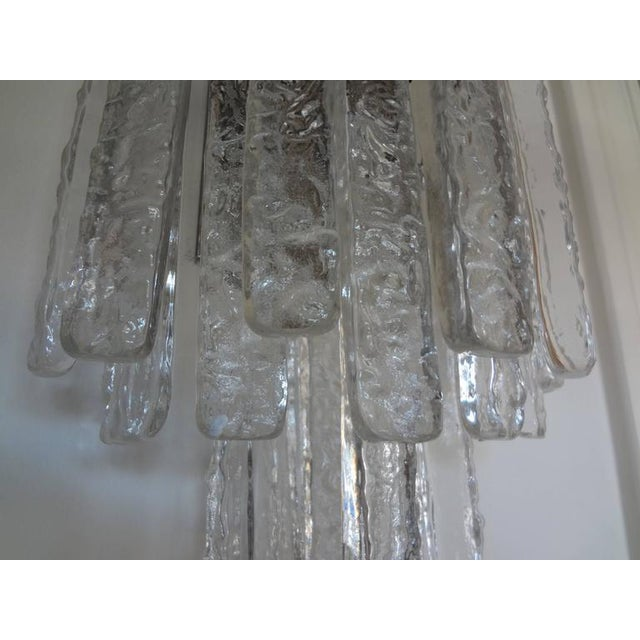 Barovier e Toso Vintage Mid-Century Italian Venini Style Murano Glass Icicle Sconces - A Pair For Sale - Image 4 of 7