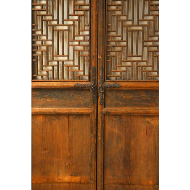 Asian Chinese Lattice Panel Doors - Set of 4 For Sale - Image 3 of 10
