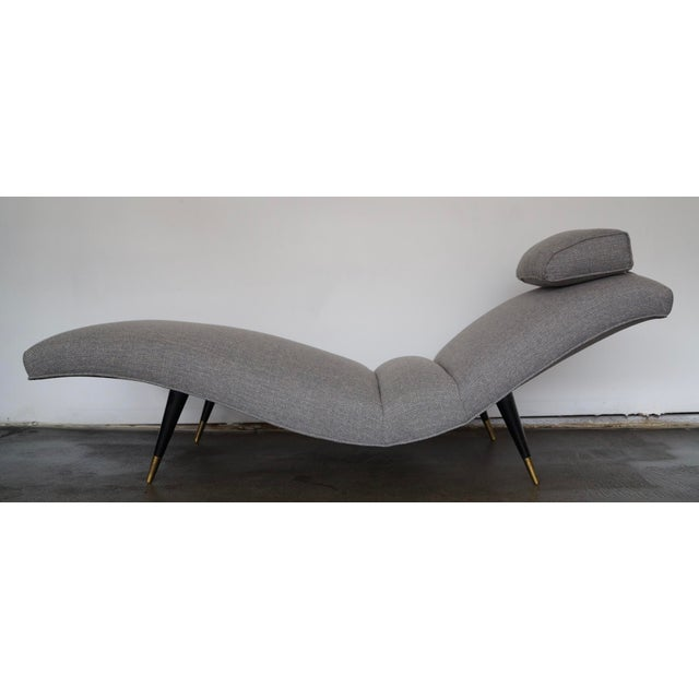 Danish Modern Mid-Century Modern Gray Tweed Daybed or Chaise Lounge For Sale - Image 3 of 11