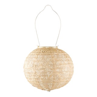 Soji Stella Outdoor Globe Lantern in Pearl Wave For Sale