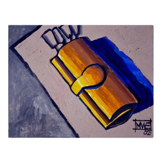 """""""Clutch and the Golden Key"""" Contemporary Still Life Oil Painting For Sale"""