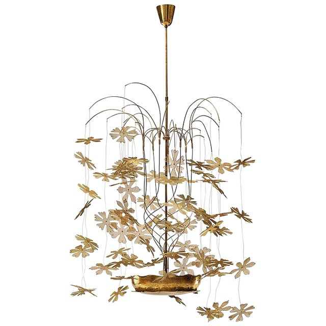 Rare and Important Paavo Tynell 'Fantasia' Snowflake Chandelier for Taito Oy For Sale