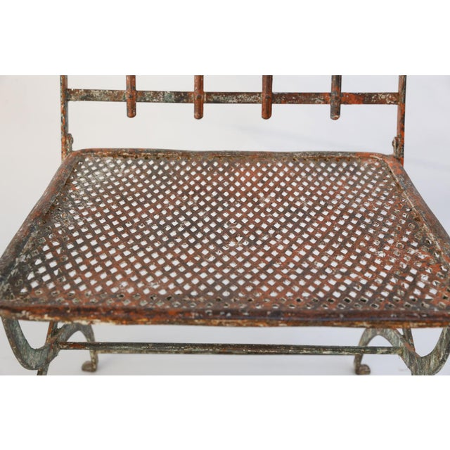 Gray Pair of French Iron Garden Chairs For Sale - Image 8 of 13