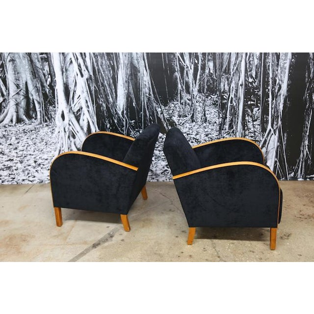 Scandinavian Art Deco Club Chairs- A Pair - Image 5 of 5
