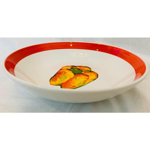 Vintage Roma Inc Large Pepper Serving/Pasta Bowl For Sale - Image 4 of 7