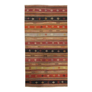 Vintage Turkish Kilim Rug 4'9 X 9'4 For Sale