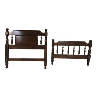 Ethan Allen Twin Headboard and Footboard - 2 Pieces For Sale
