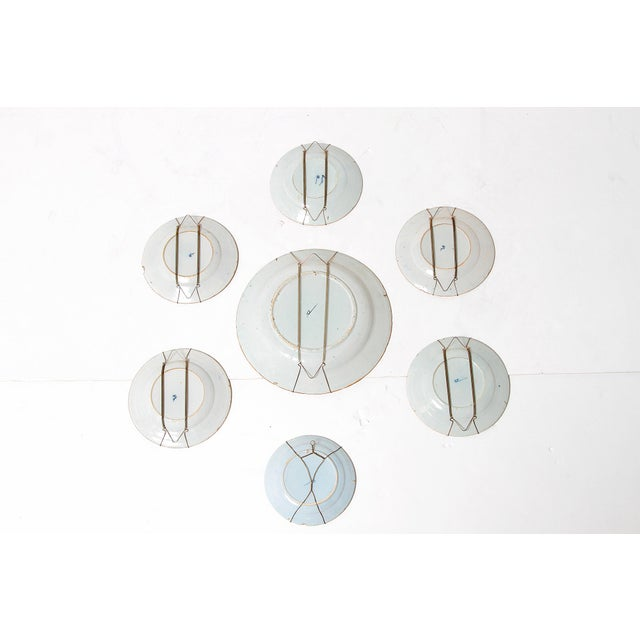 Chinese Flower Basket / Blue and White Delft Plates / Group of Seven For Sale - Image 9 of 13