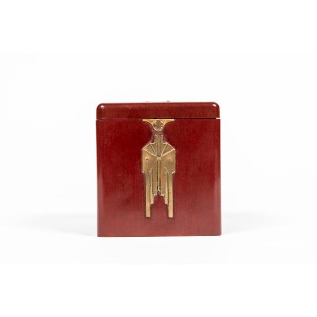 Vintage Demley Art Deco Red Cigarette Box For Sale - Image 10 of 10