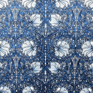 Pimpernel William Morris Blue Upholstery Fabric For Sale