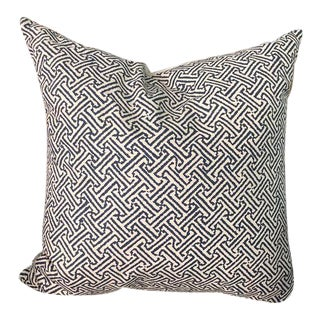 Navy Quadrille Java Java Decorative Pillow For Sale