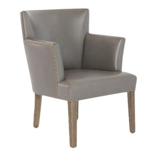 Balboa Gray Contemporary Barrel Chair For Sale