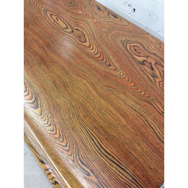 Peter Protzman for Herman Miller Exotic Zebrawood Desk For Sale In Richmond - Image 6 of 11