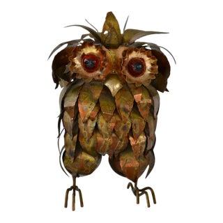 Brutalist Owl Form Sculpture For Sale