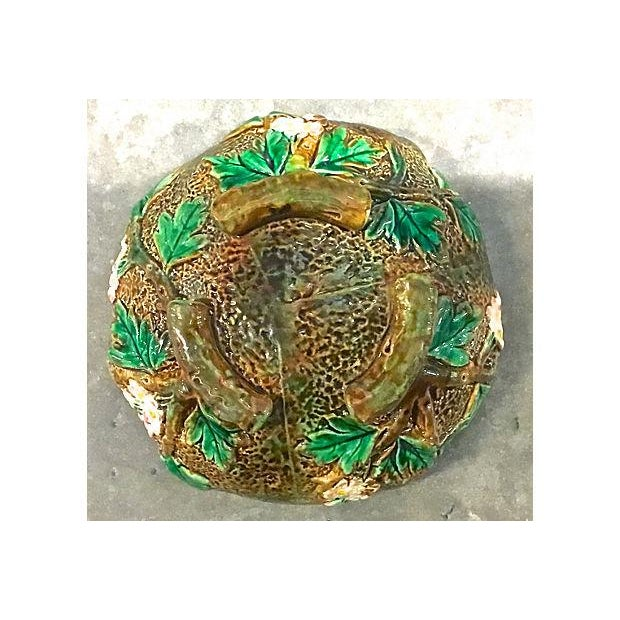 Antique George Jones Majolica Muffin Dish For Sale - Image 10 of 13