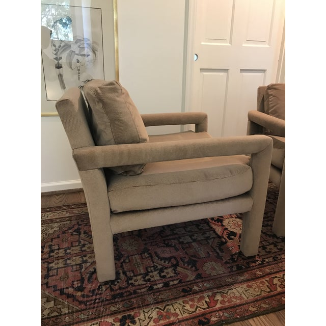 Textile Vintage Drexel Heritage Parson Chairs - a Pair For Sale - Image 7 of 8