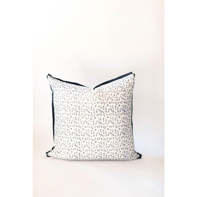 "Dotty Block Print Pillow - 26x26"" For Sale - Image 4 of 4"