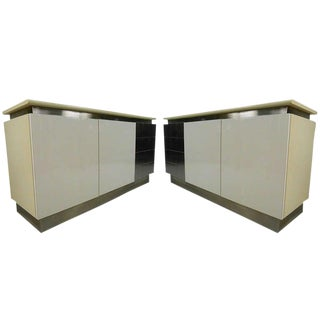 Pair Modern Space Age Credenzas For Sale