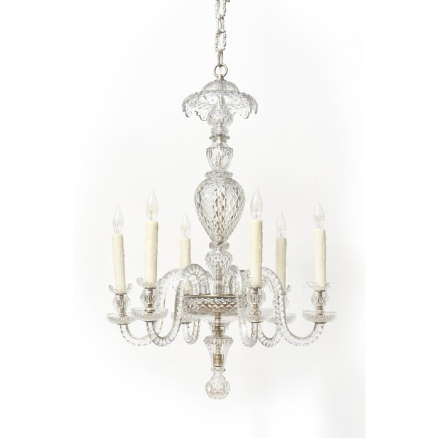 Six Arm Early Waterford Chandelier For Sale - Image 9 of 9