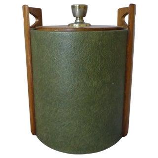 Mid-Century Modern Walnut Handled Ice Bucket