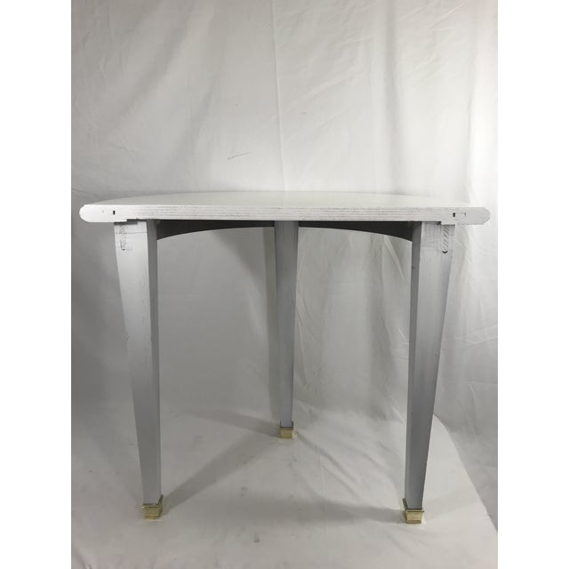 Art Deco FrenchWhite Lacquered Consoles - a Pair For Sale - Image 3 of 8