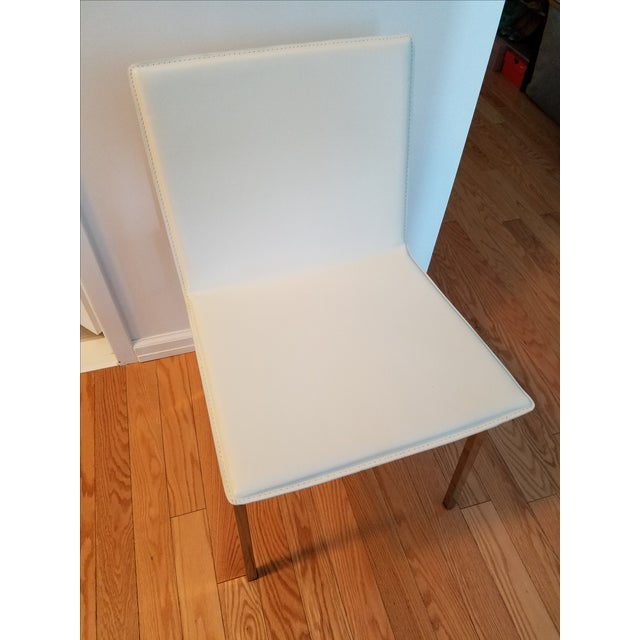 CB2 Phoenix Ivory Chair For Sale - Image 5 of 6
