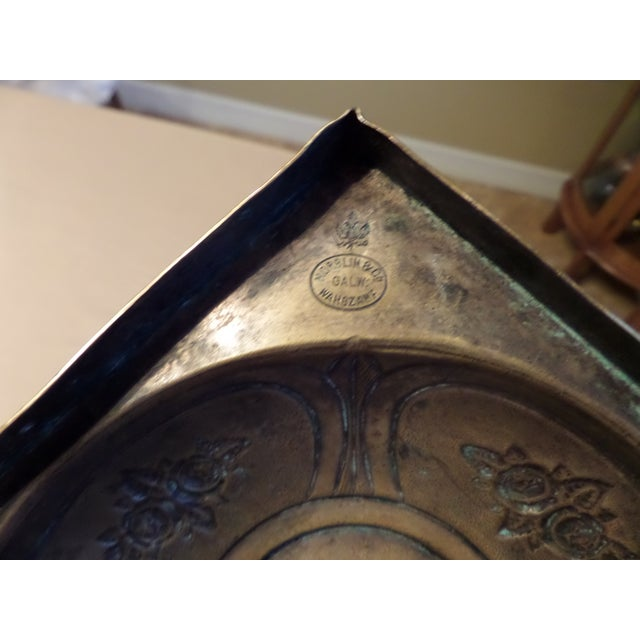 Norblin & Co. Old Vintage Brass Art Nouveau Candlestick For Sale - Image 9 of 10