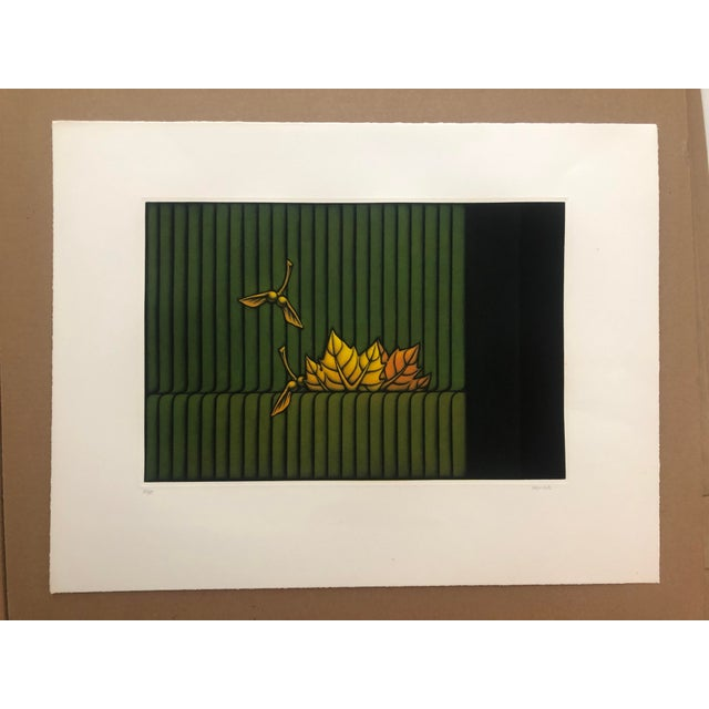 "Kazuhisa Honda Modern Mezzotint ""Park"" 1980s For Sale - Image 6 of 7"